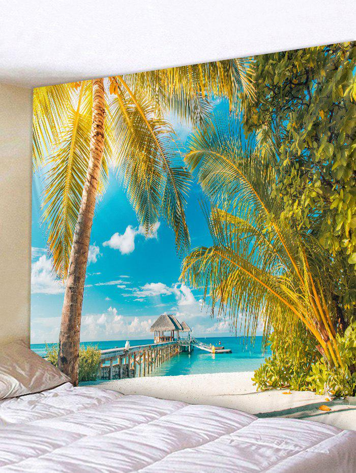 Coconut Tree Beach Print Tapestry Wall Hanging Decoration beach coconut tree wall hanging tapestry