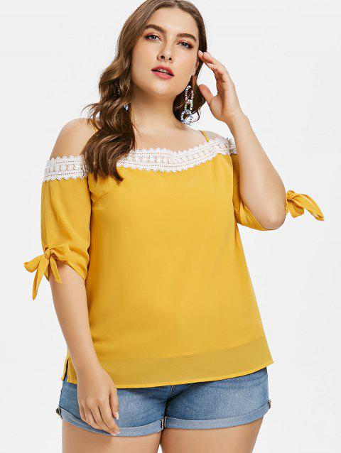 Plus Size Knotted Cami Top - BRIGHT YELLOW L