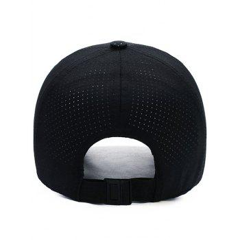 Outdoor Breathable Long Bill Sport Hat - BLACK