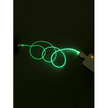 Flowing LED Glowing USB Charging Data Cable For Android - ZOMBIE GREEN