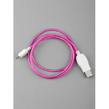 Flowing LED Glowing USB Charging Data Cable For Android - VIOLET RED