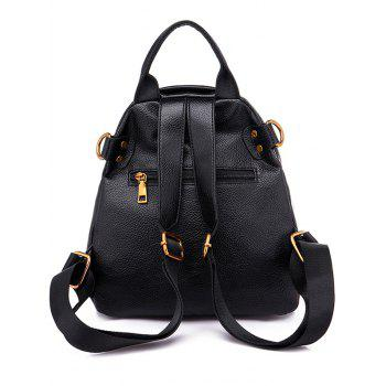 Outdoor Shopping Casual Minimalist Backpack - BLACK