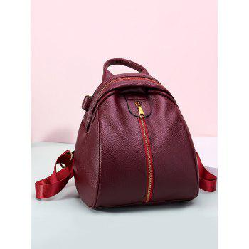 Outdoor Shopping Casual Minimalist Backpack - RED WINE