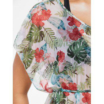 Flower Palm Cover Up - WHITE ONE SIZE
