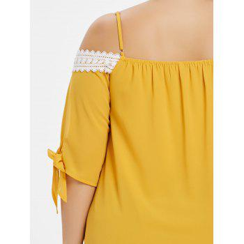 Plus Size Knotted Cami Top - BRIGHT YELLOW 2X