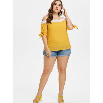 Plus Size Knotted Cami Top - BRIGHT YELLOW 3X