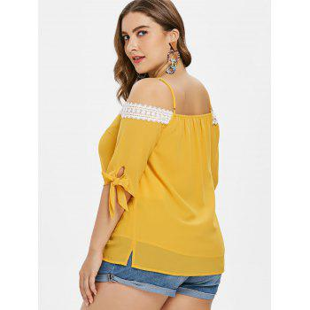 Plus Size Knotted Cami Top - BRIGHT YELLOW 4X