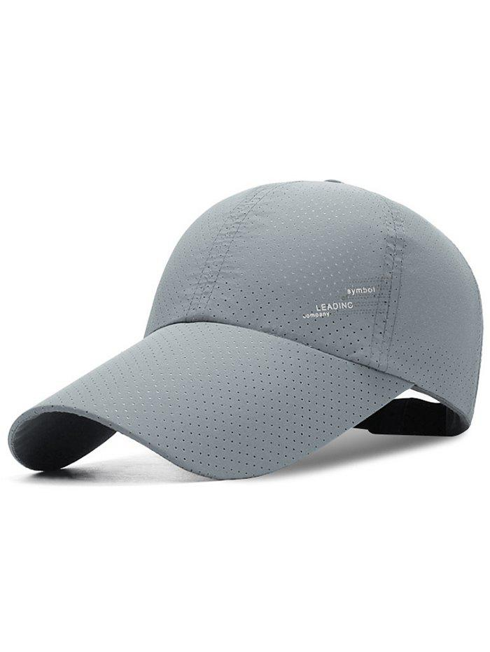 Outdoor Breathable Long Bill Sport Hat - LIGHT GRAY