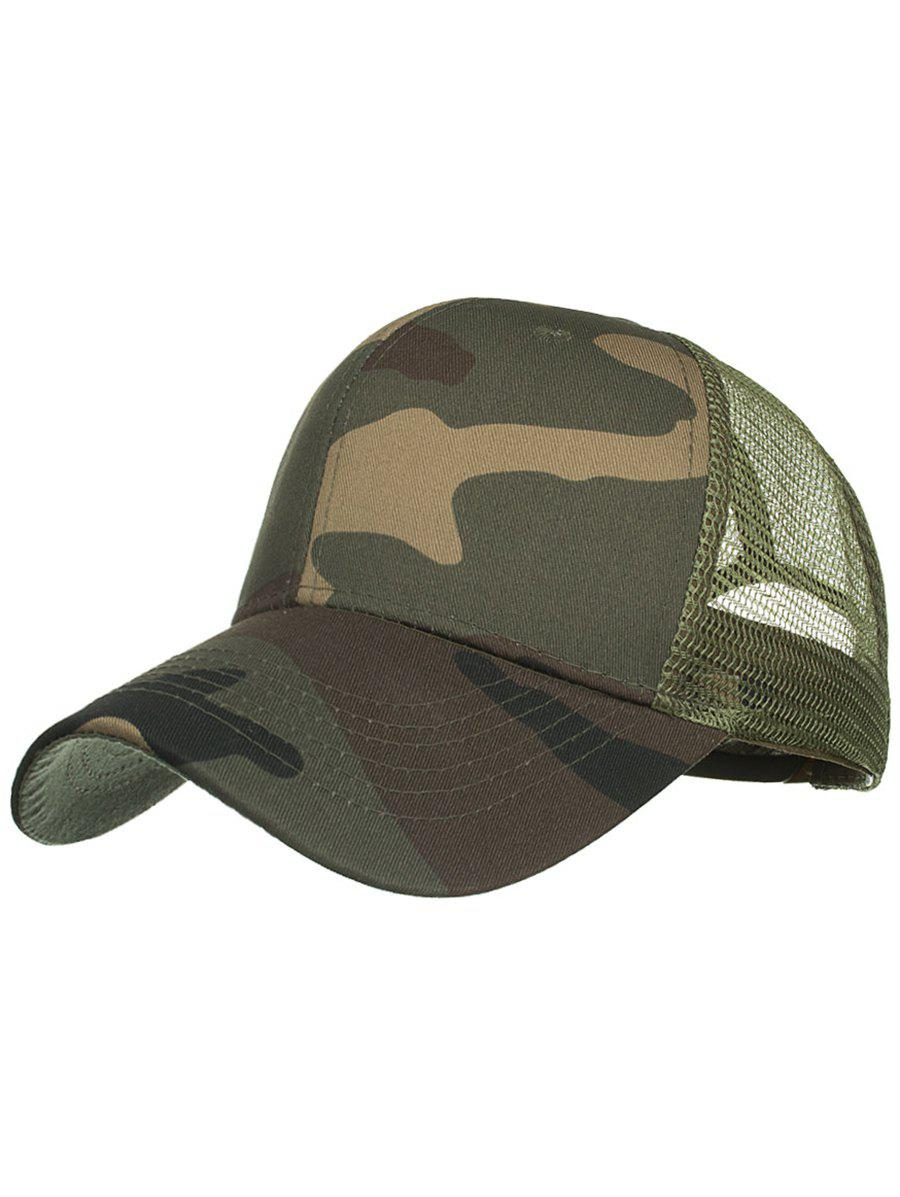 Camouflage Pattern Mesh Sun Hat - ARMY GREEN