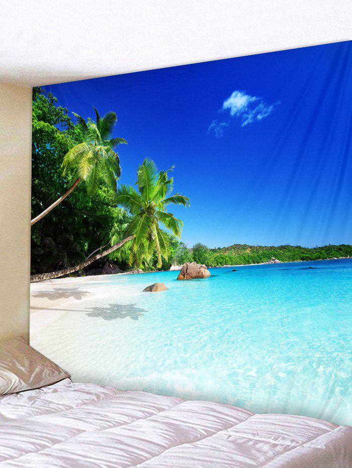 Coconut Palm Sea Print Tapestry Wall Art Hanging Decoration valentine s day heart starlight print tapestry wall hanging decoration
