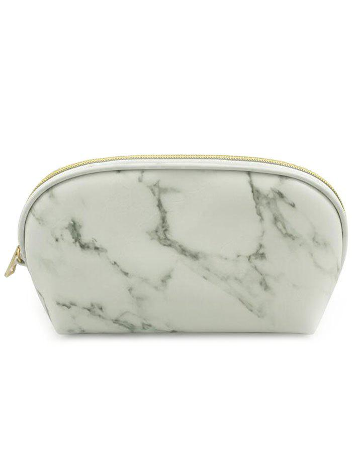 Portable Marble Pattern Zipper Travel Makeup Storage Bag school portable hand strap zipper closure files document bag black
