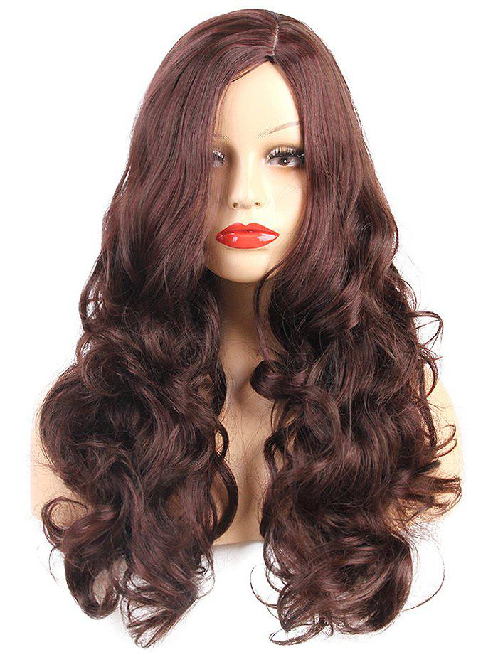 Side Parting Long Body Wave Heat Resistant Synthetic Wig fashion woman s wig long body wave lace front synthetic hair black color heat resistant
