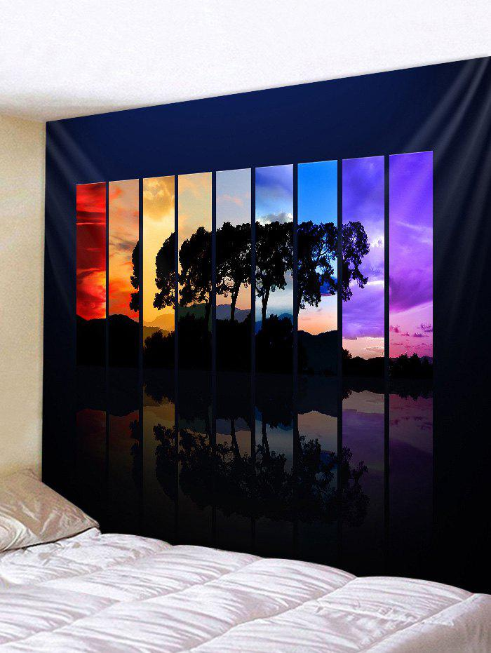 Colorful Tree Print Tapestry Wall Hanging Decoration valentine s day heart starlight print tapestry wall hanging decoration