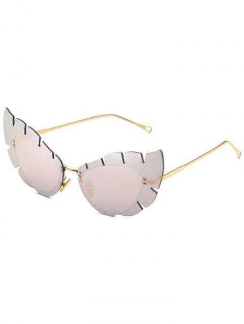UV Protection Irregular Sun Shades Butterfly Sunglasses - PIG PINK