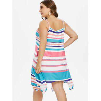 Plus Size Stripes Cami Dress - multicolor 2X