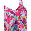 Empire Waist Butterfly Print Tank Top - multicolor S