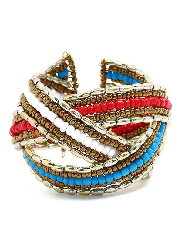 Unique Multilayer Knitted Colored Beaded Cuff Bracelet пылесборник bosch 2609256 f 32