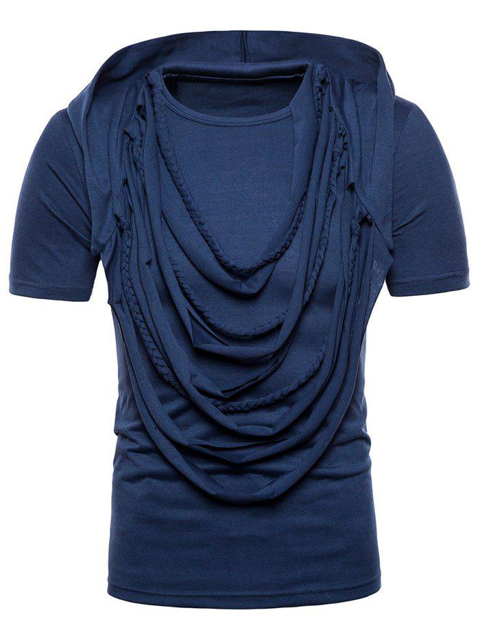 Layered Decoration Tee with Hat - BLUE JAY XL