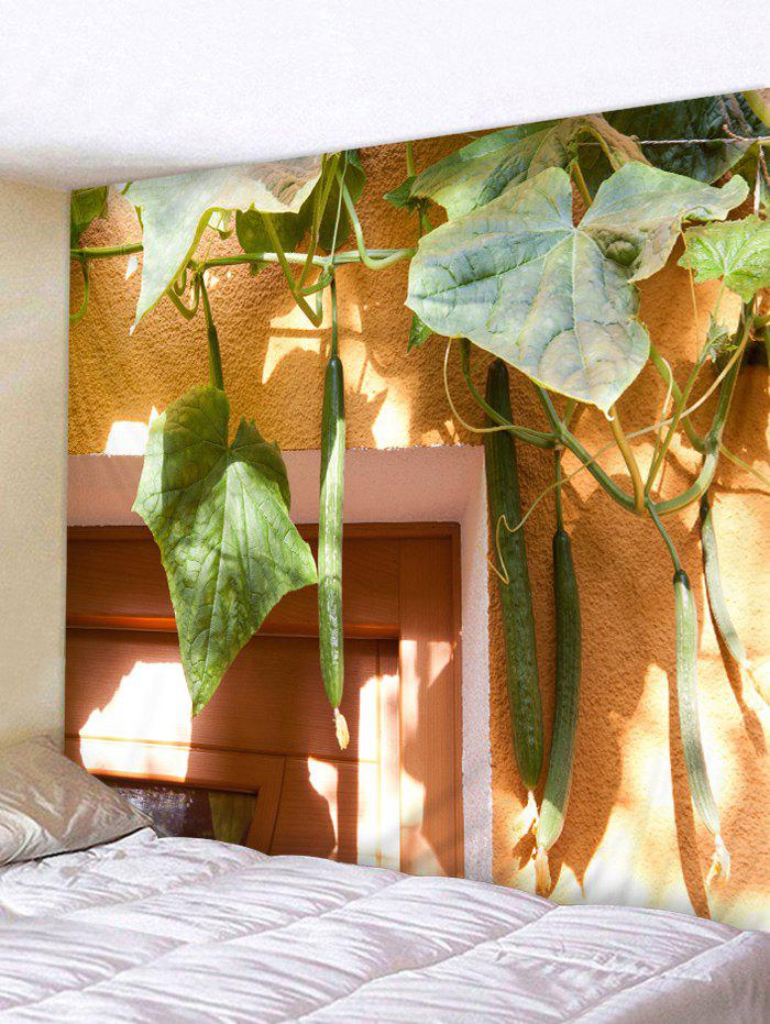 Cucumber Vines Print Tapestry Wall Art ocean jellyfish print throw wall art tapestry