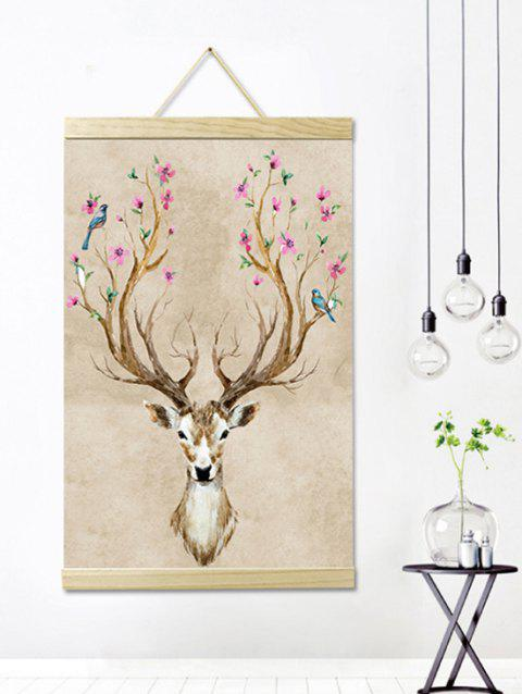 Deer Tree Print Wall Hanging Canvas Painting - multicolor 1PC:20*28 INCH(NO FRAME)