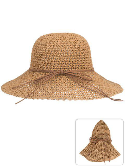 LIMITED OFFER  2019 Anti UV Bowknot Foldable Straw Sunscreen Hat In ... b0a9241b06e3