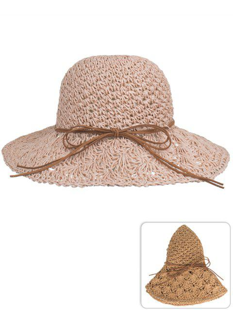 LIMITED OFFER  2019 UV Protection Bowknot Hand Knitting Summer Hat ... 559e9c411af4