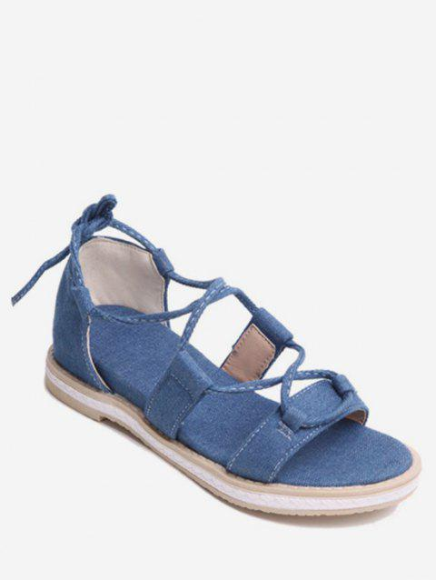 Plus Size Ankle Strap Chic Outdoor Sandals - DEEP BLUE 43