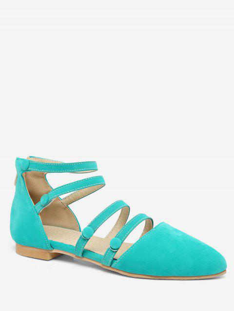 Plus Size Pointed Toe Strappy Chic Sandals - GREEN 41