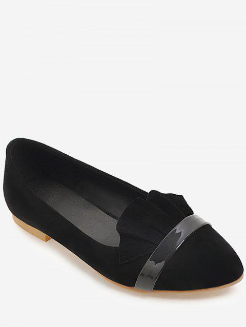 Plus Size Pointed Toe Leisure Flats - BLACK 38
