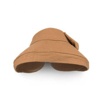 Outdoor Bowknot Open Top Foldable Beach Hat - TIGER ORANGE