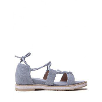 Plus Size Ankle Strap Chic Outdoor Sandals - BLUE GRAY 43