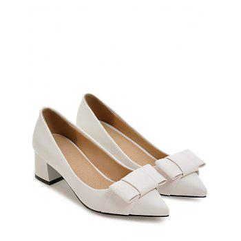 Plus Size Block Heel Party Leisure Pumps - WHITE 43