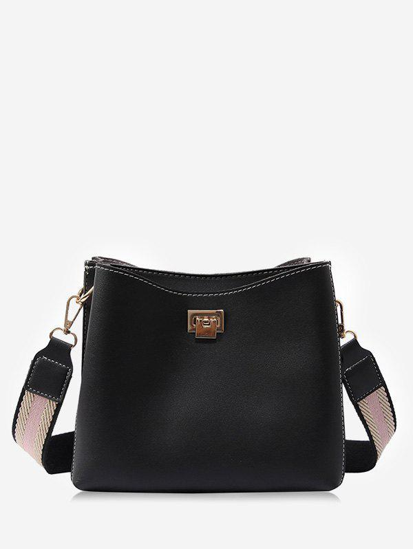 Faux Leather Causal Shopping Minimalist Crossbody Bag concise nylon and solid color design crossbody bag for women