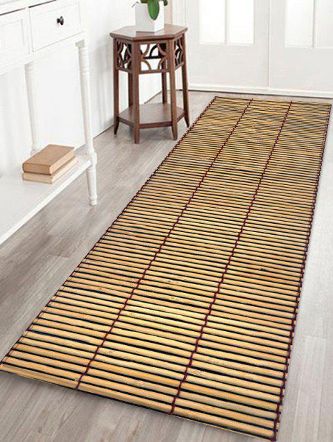Bamboo Mat Printing Anti-skid Indoor Outdoor Area Rug - FALL LEAF BROWN W24 INCH * L71 INCH
