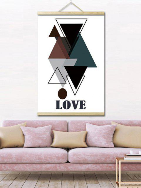 Geometric Love Print Wall Hanging Canvas Painting - multicolor 1PC:16*24 INCH( NO FRAME )