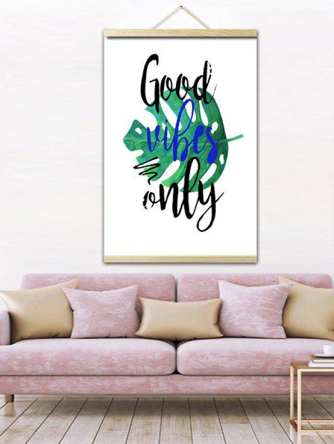 Tropical Leaf Print Wall Hanging Canvas Painting - WHITE 1PC:20*28 INCH(NO FRAME)