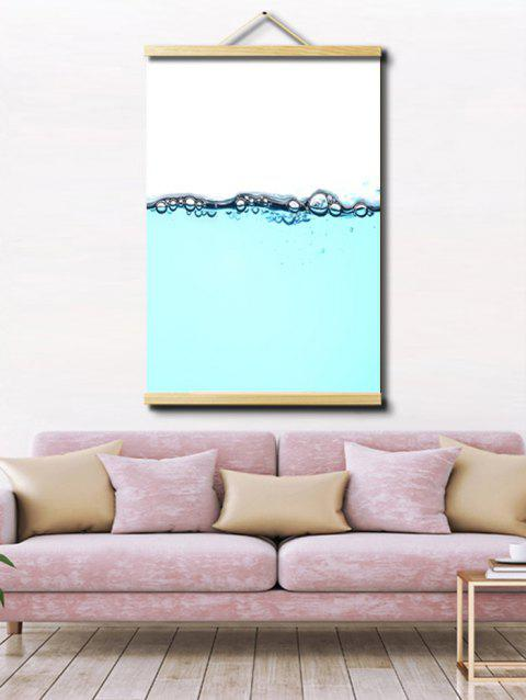 Water Level Print Wall Hanging Canvas Painting - multicolor 1PC:20*28 INCH(NO FRAME)