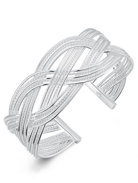 Multilayer Geometric Party Wedding Cuff Bracelet - SILVER