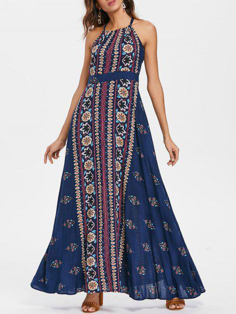 Bohemia Summer Maxi Printed Dress - multicolor S
