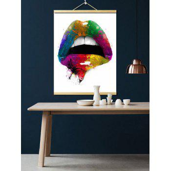 Colorful Lip Print Wall Hanging Canvas Painting - multicolor 1PC:16*24 INCH( NO FRAME )