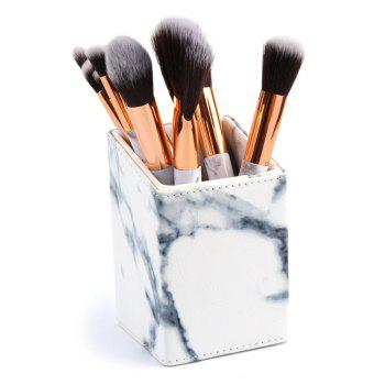 Professional Marble Printing Cosmetic Brush Holder - WHITE