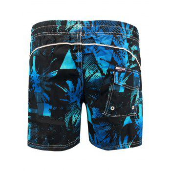 Two-pocket Lace Up Beach Shorts with Lining - ROYAL BLUE L