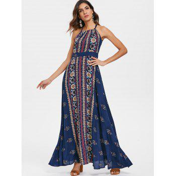 Bohemia Summer Maxi Printed Dress - multicolor M