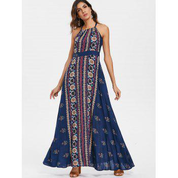 Bohemia Summer Maxi Printed Dress - multicolor L