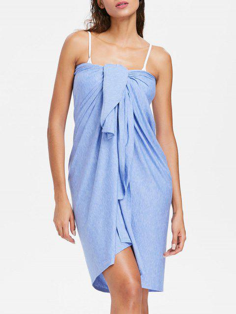 Wrap Cover up Beach Sarong - POWDER BLUE M