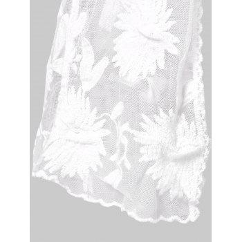 Dandelion Lace Cover Up Top - WHITE ONE SIZE