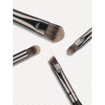 Set of 4Pcs Extra Soft Silky Eye Makeup Brush - BLACK