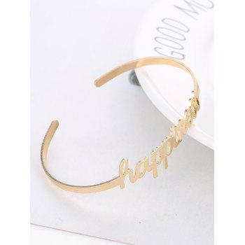 Carving Happiness Wedding Cuff Bracelet - GOLD