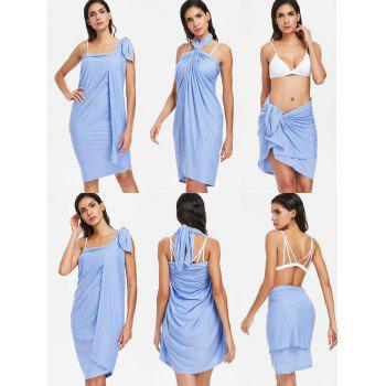 Wrap Cover up Beach Sarong - POWDER BLUE L