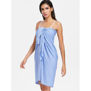 Wrap Cover up Beach Sarong - POWDER BLUE 2XL